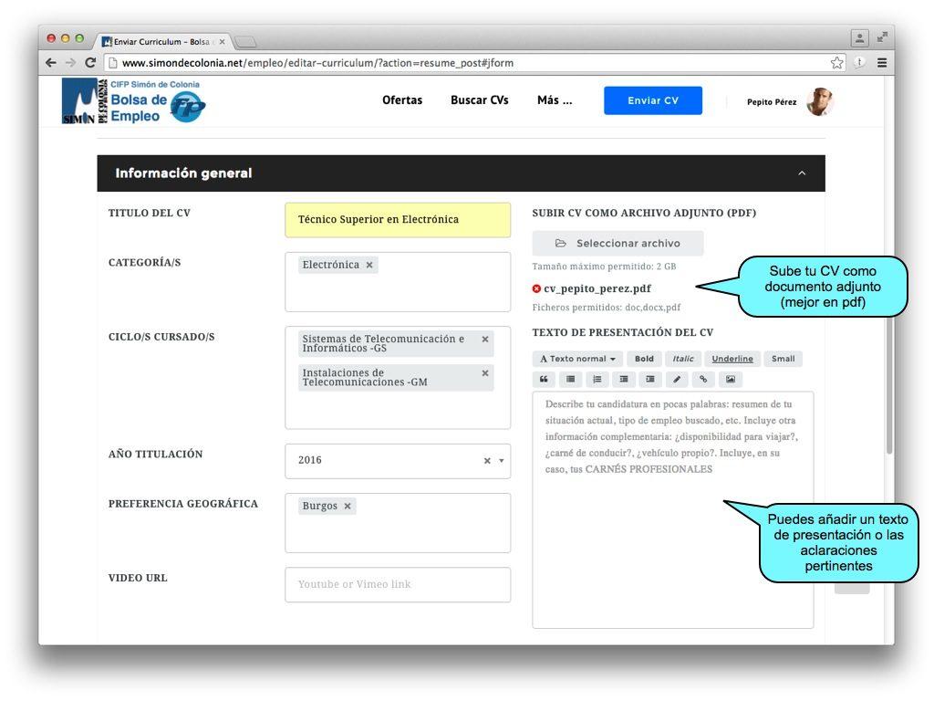 Ayuda para candidatos – Bolsa de Empleo Simón de Colonia