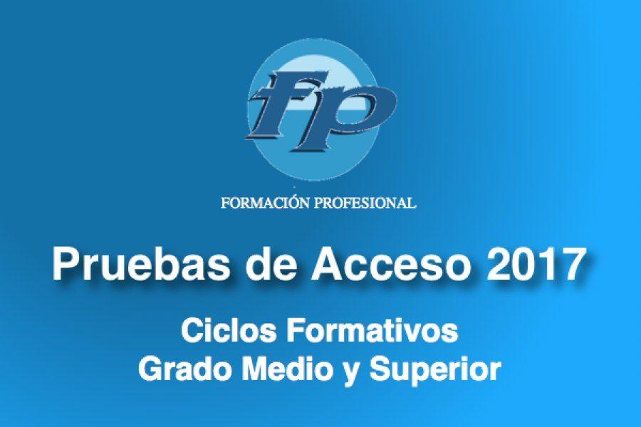 Pruebas Acceso Ciclos Formativos 2017
