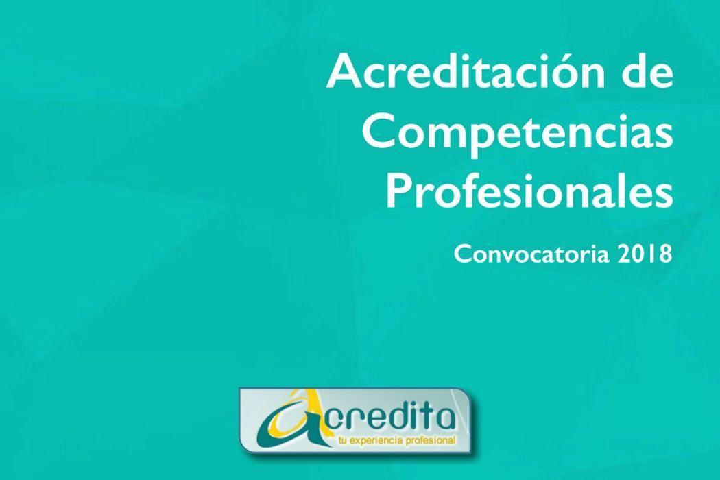 Convocatoria  acreditación de competencias 2018